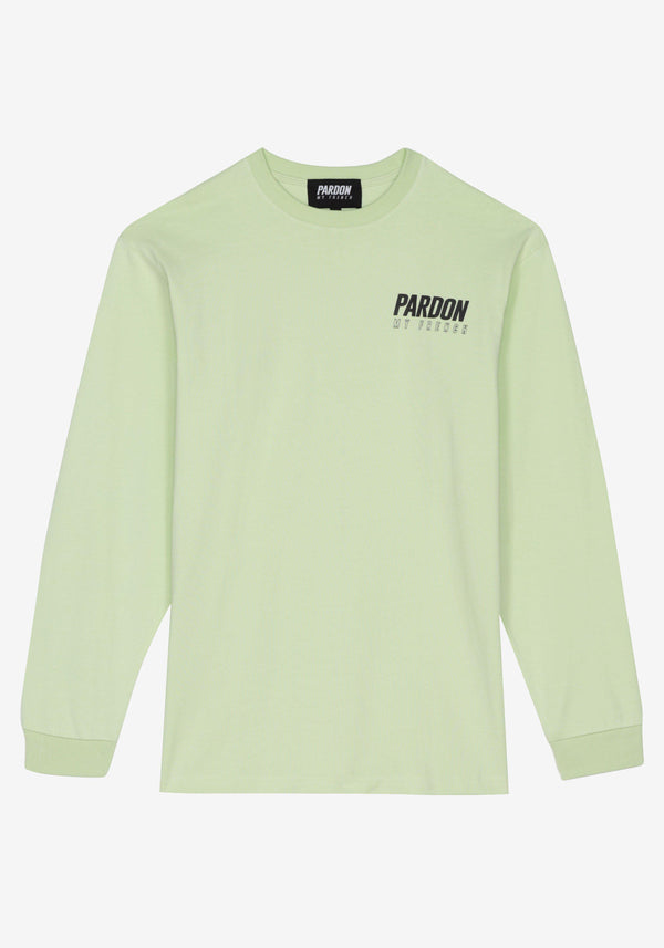 Tshirt Manches Longues  Pardon My French New Logo Vert Pastel