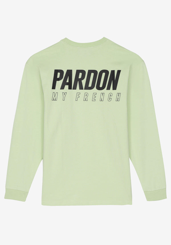 Langarm T-Shirt Pardon My French Neues Logo Pastellgrün-PARDON MY FRENCH
