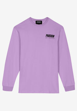 Tshirt Manches Longues  Pardon My French New Logo Violet Pastel