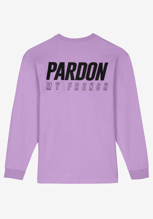 Langarm T-Shirt Pardon My French Neues Logo Violet Pastel-PARDON MY FRENCH