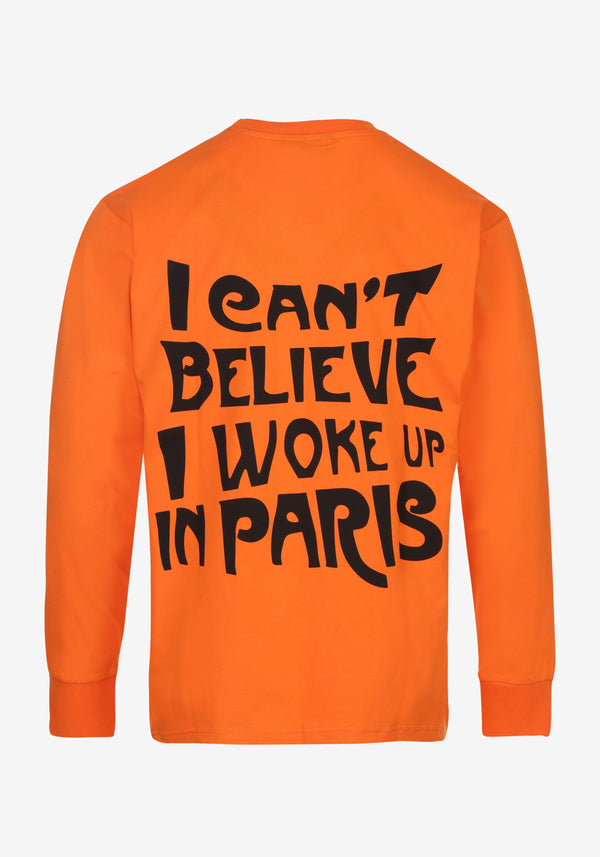 Tshirt Manches Longues Orange All Access Paris Edition Collector