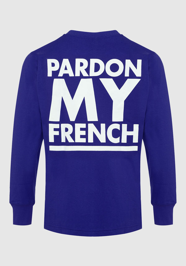 TSHIRT MANCHES LONGUES PARDON MY FRENCH CLASSIC LOGO NAVY