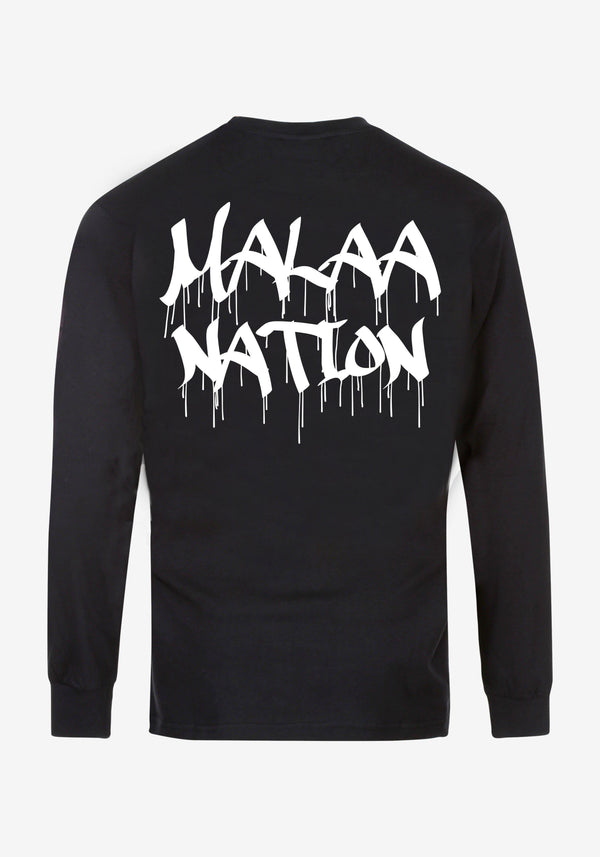 تي شيرت Malaa Nation Bling Bling Edition بأكمام طويلة-PARDON MY FRENCH