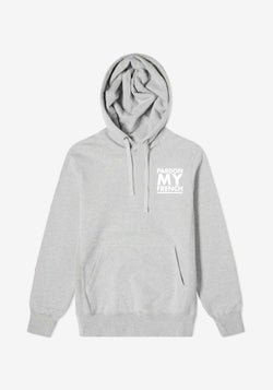 Hoodie Gris Classic Logo Pardon My French