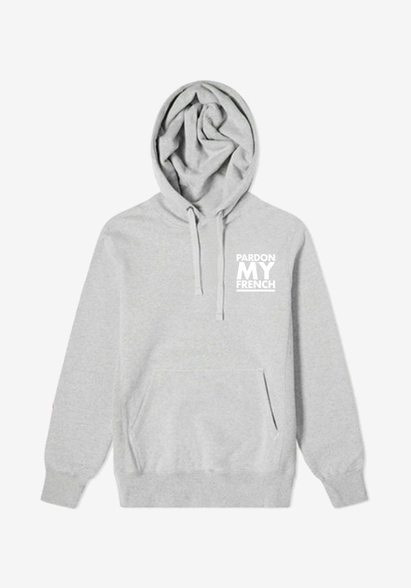 Hoodie Gris Classic Logo Pardon My French-PARDON MY FRENCH