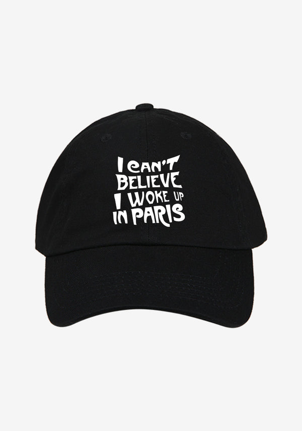 Casquette Noire Paris Edition Collector-PARDON MY FRENCH