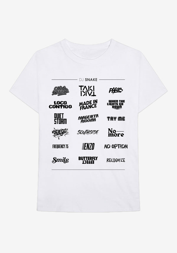 Tshirt DJ SNAKE WALL OF FAME BLANC-PARDON MY FRENCH