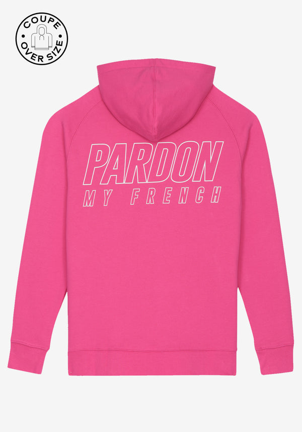 HOODIE PARDON MY FRENCH ROSE METALLIC LOGO