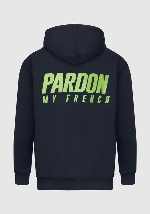 HOODIE PARDON MY FRENCH BLEU FONCE NEW LOGO