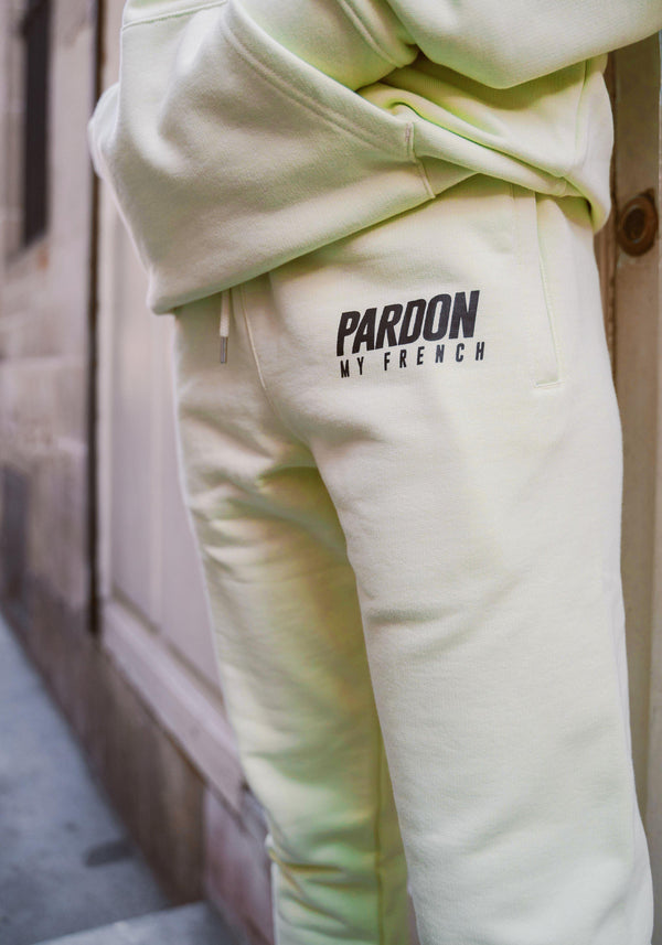 Pantalon Pardon My French New Logo Vert Pastel