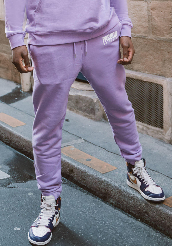 Pantalones Pardon My French Nuevo logotipo Violeta Pastel-PARDON MY FRENCH
