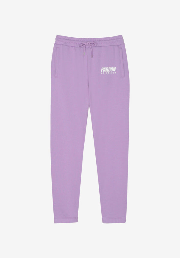 Pantalon Pardon My French New Logo Violet Pastel