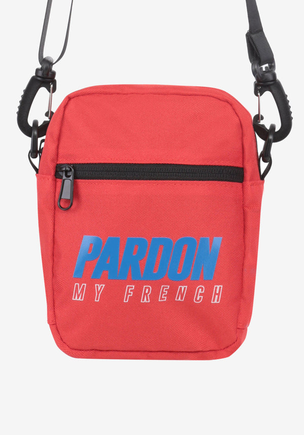 Sacoche Pardon My French New Logo Rouge & Bleu