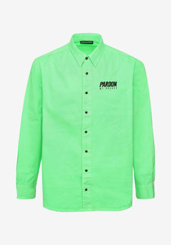 Giacca camicia Pardon My French Verde lampeggiantePARDON MY FRENCH
