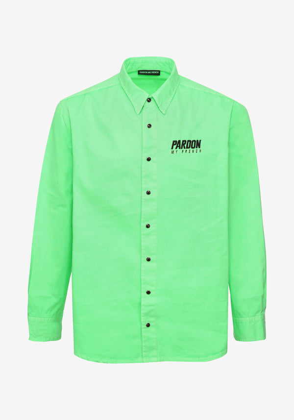 Veste Chemise Pardon My French Vert Fluo-PARDON MY FRENCH