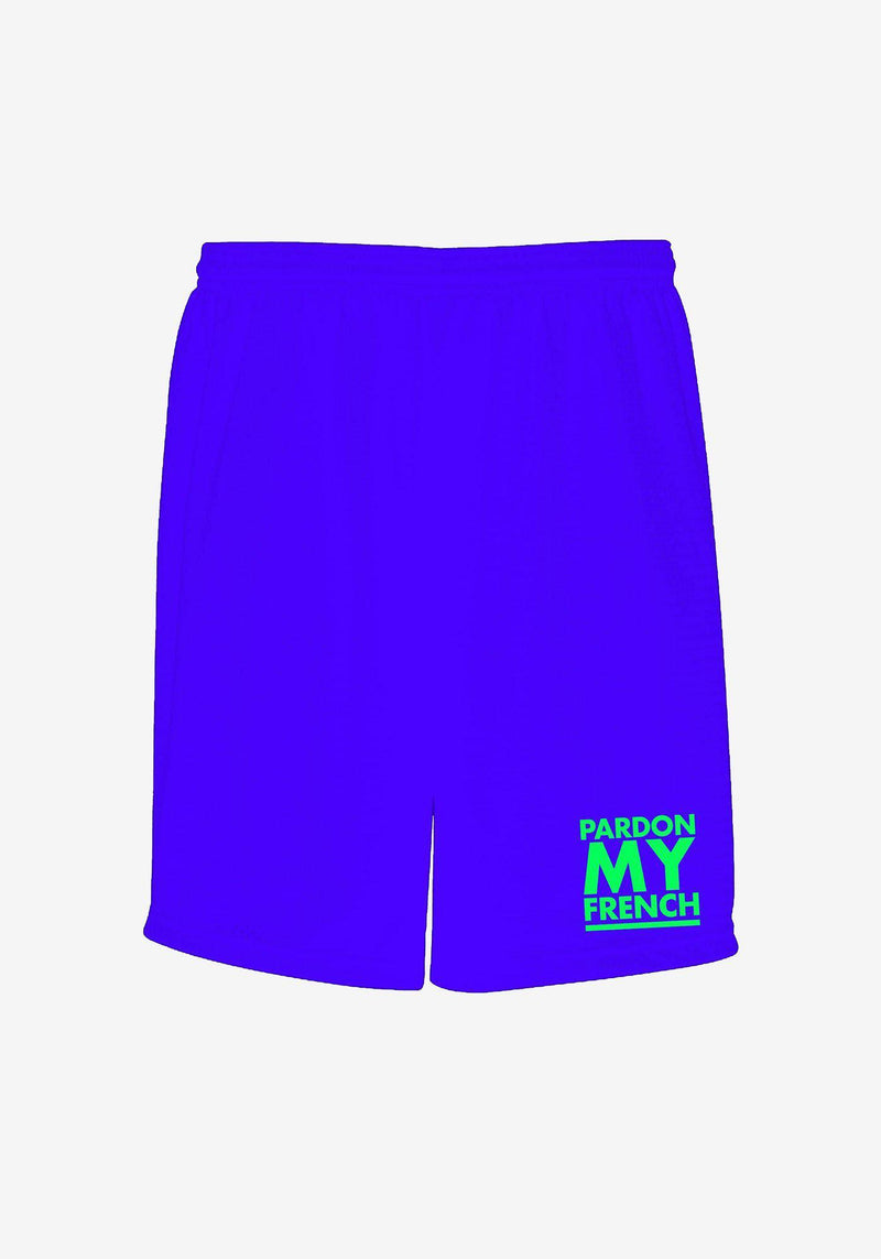Klassische Shorts Pardon My French Blau-PARDON MY FRENCH