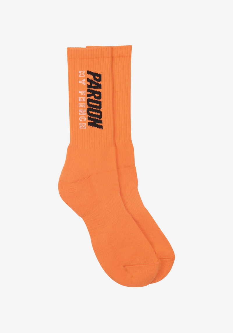 Chaussettes Pardon My French Orange-PARDON MY FRENCH