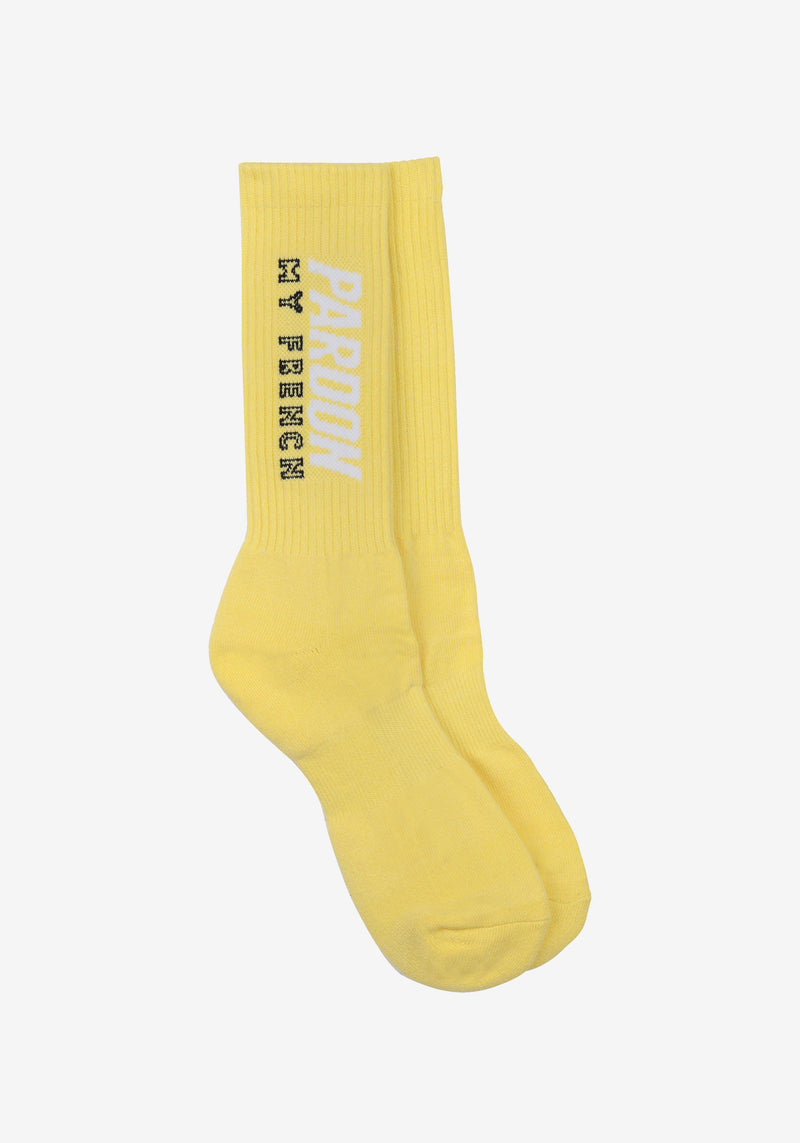 Chaussettes Pardon My French Jaune-PARDON MY FRENCH