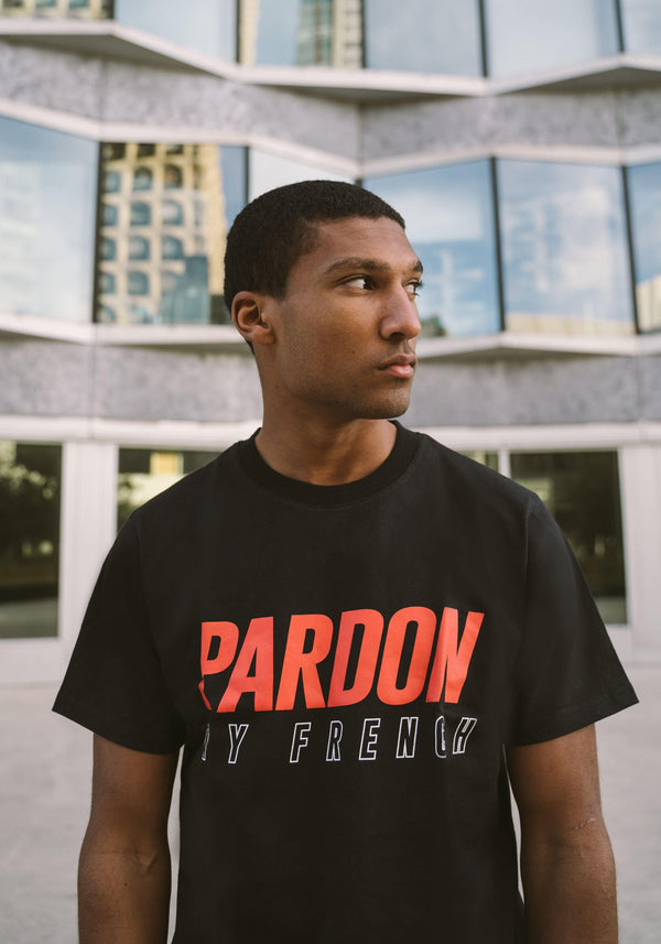 TSHIRT PARDON MY FRENCH FACE LOGO NOIR-PARDON MY FRENCH