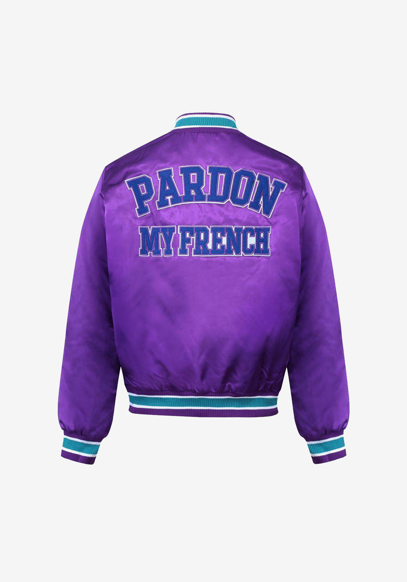 معطف القاذفات Pardon My French أرجواني-PARDON MY FRENCH