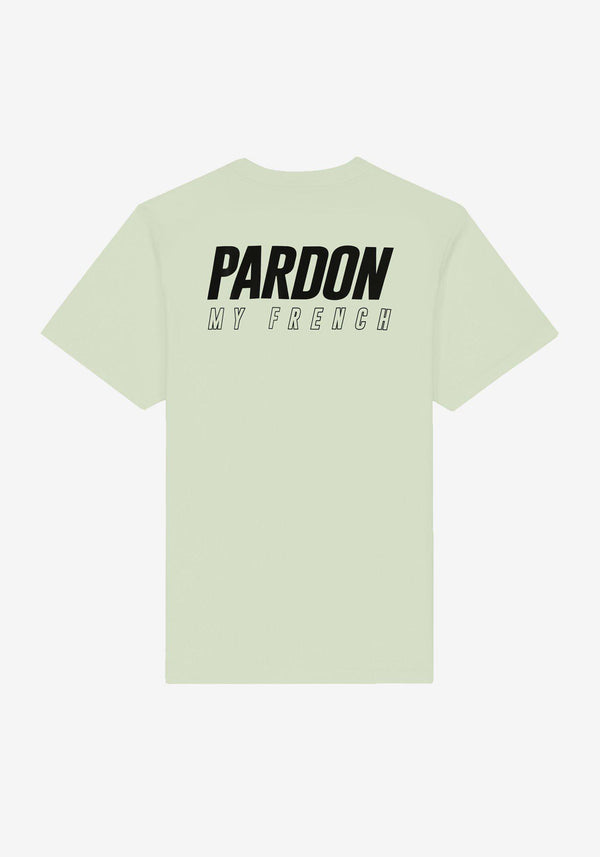 CAMISETA PARDON MY FRENCH NUEVO LOGOTIPO VERDE PASTELPARDON MY FRENCH