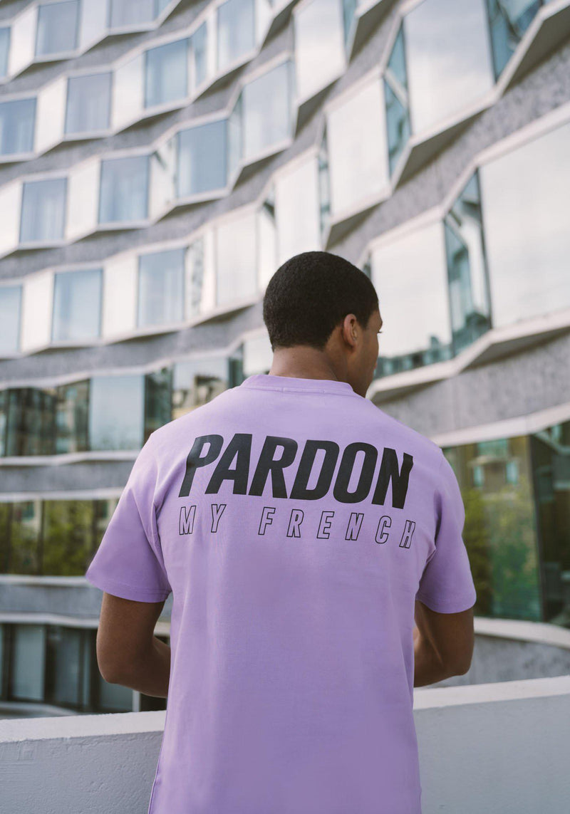 TSHIRT PARDON MY FRENCH NEW LOGO VIOLET PASTEL