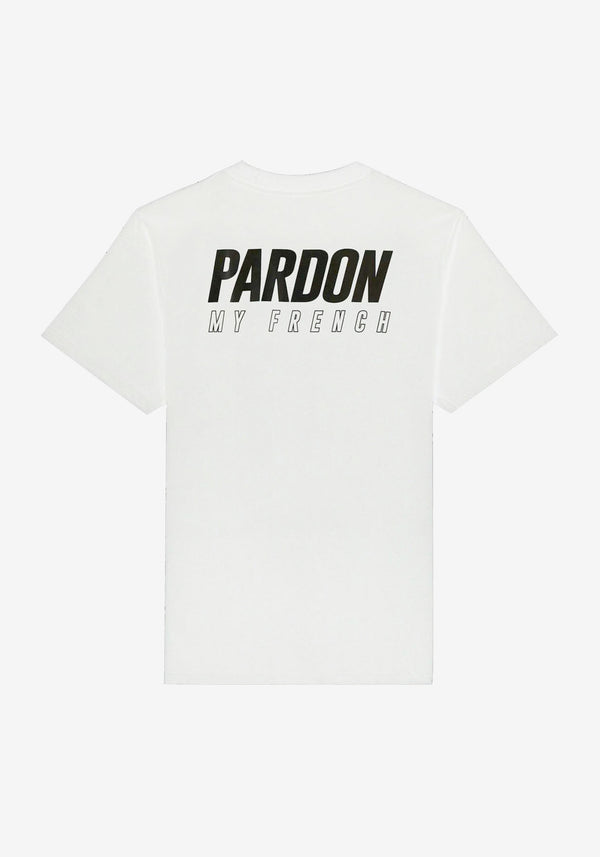 TSHIRT PARDON MY FRENCH BLANC NEW LOGO NOIR