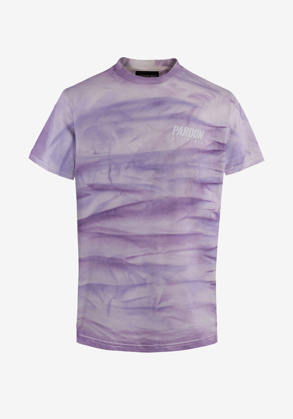 TSHIRT PARDON MY FRENCH TIE DYE VIOLET NEW LOGO