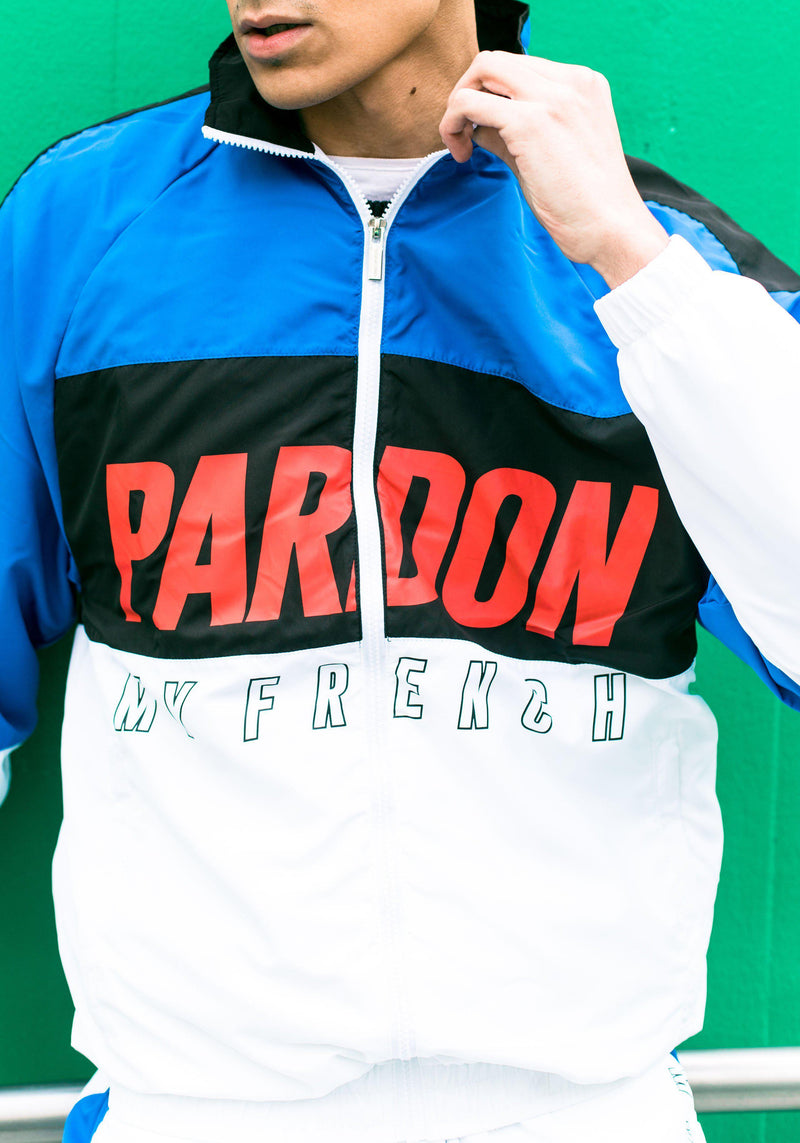 Veste Tracksuit Pardon My French New Logo Noir & Bleu