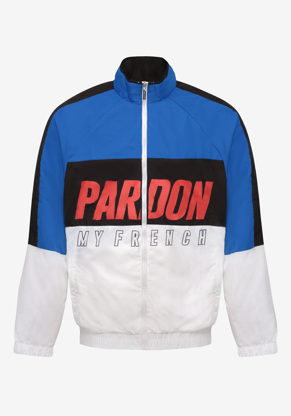 Veste Tracksuit Pardon My French New Logo Noir & Bleu-PARDON MY FRENCH