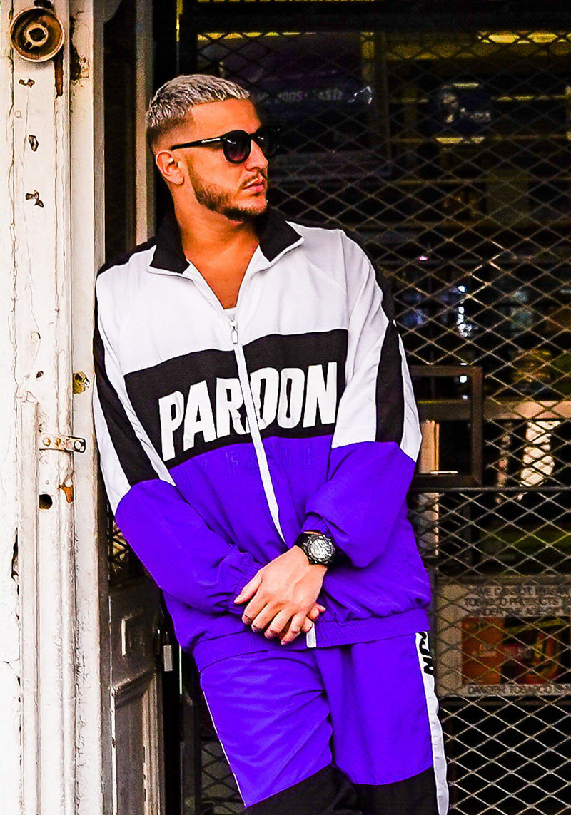 Veste Tracksuit Pardon My French New Logo Noir & Violet
