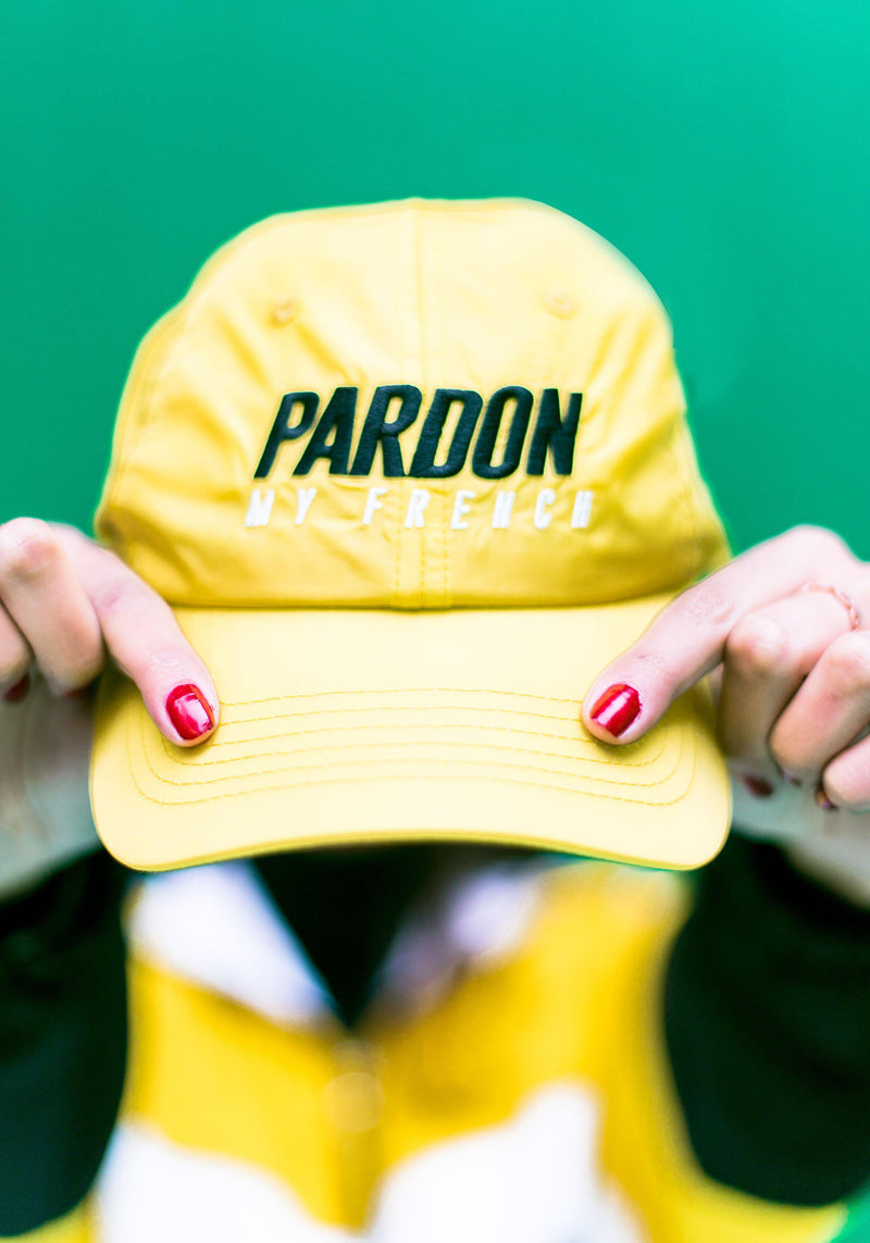 Casquette Pardon My French شعار أصفر جديد-PARDON MY FRENCH