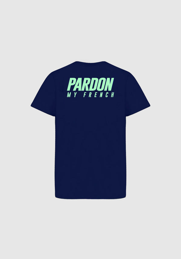 TSHIRT PARDON MY FRENCH NOIR BLEU KIDS