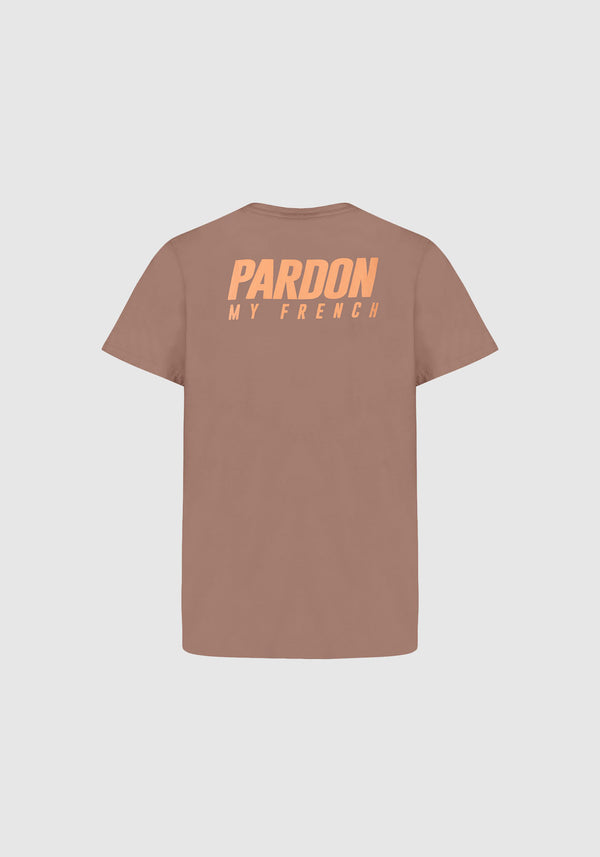 TSHIRT PARDON MY FRENCH MARRON KIDS