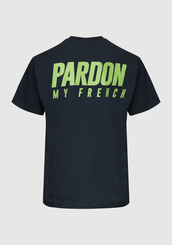 TSHIRT PARDON MY FRENCH BLEU FONCE NEW LOGO