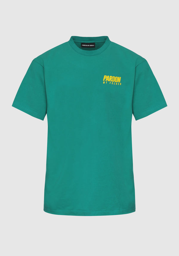 TSHIRT PARDON MY FRENCH VERT NEW LOGO