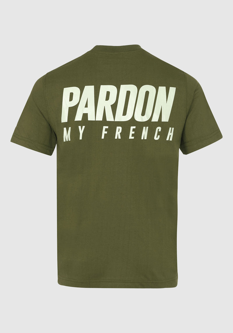 TSHIRT PARDON MY FRENCH KAKI NEW LOGO