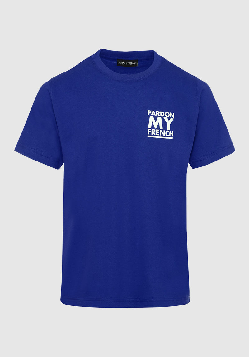 TSHIRT PARDON MY FRENCH CLASSIC LOGO NAVY