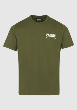 T-SHIRT PARDON MY FRENCH KHAKI NEUES LOGO