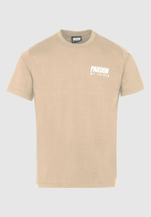 TSHIRT PARDON MY FRENCH BEIGE NEW LOGO