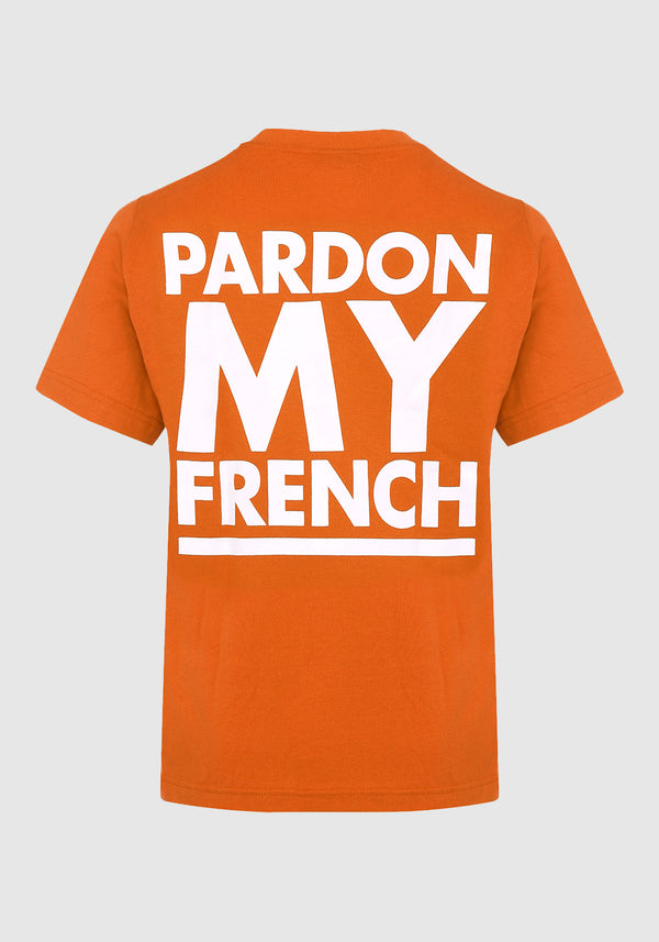 TSHIRT PARDON MY FRENCH CLASSIC LOGO ORANGE
