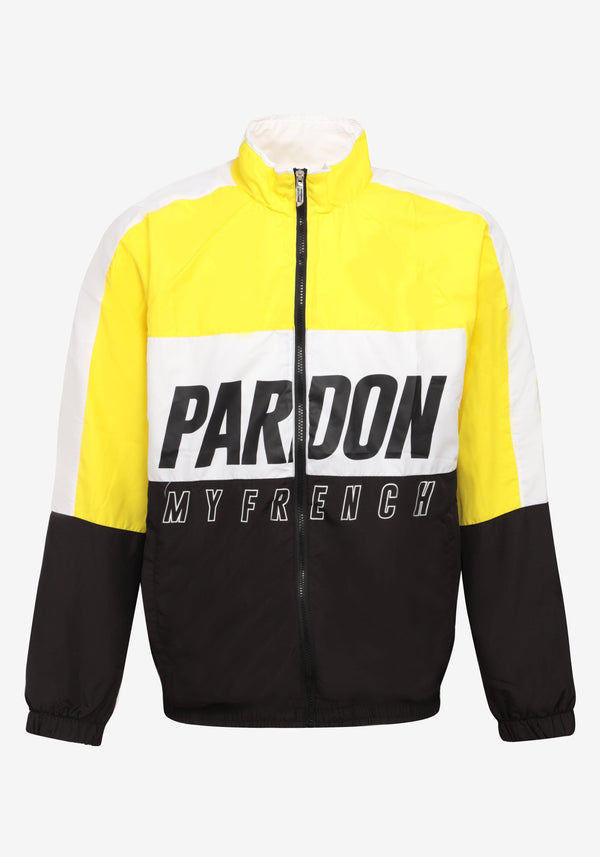 Veste Tracksuit Pardon My French New Logo Noir & Jaune