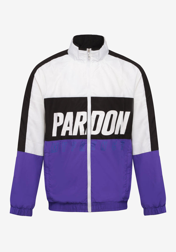 Veste Tracksuit Pardon My French New Logo Noir & Violet-PARDON MY FRENCH