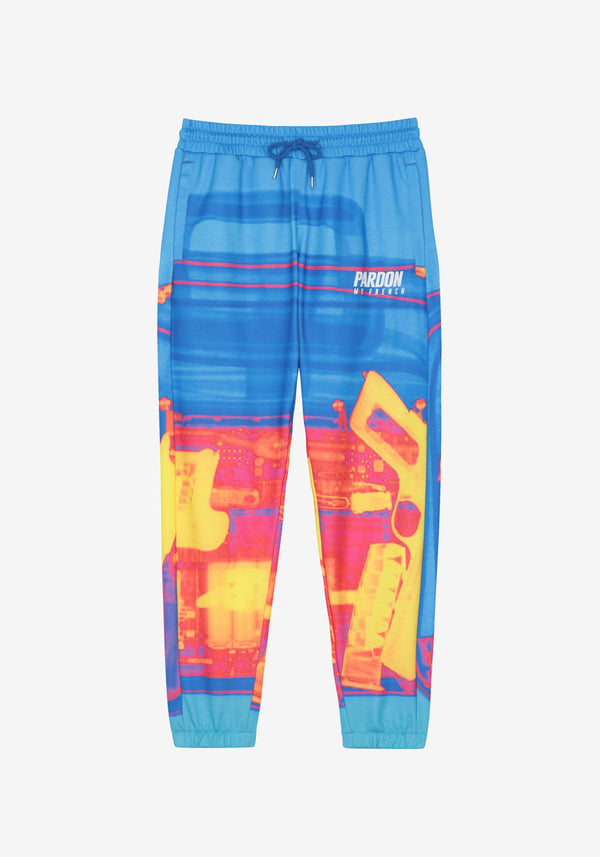 Pantalones Pardon My French X RAY Gun Blue-PARDON MY FRENCH