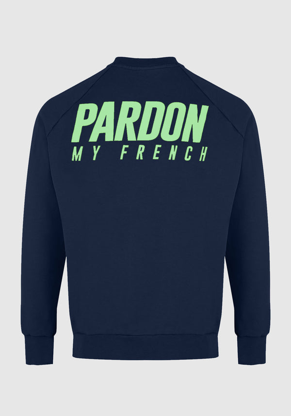 PULL CREWNECK PARDON MY FRENCH BLEU