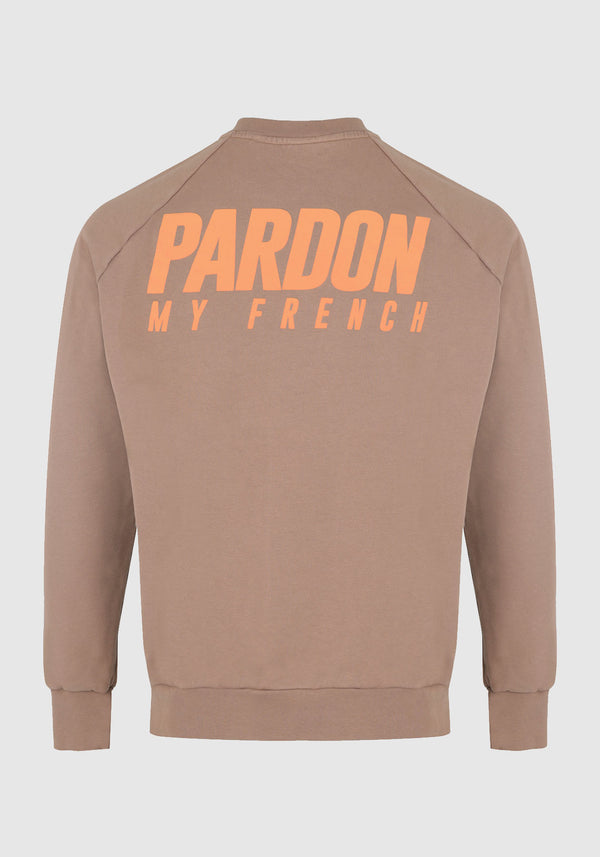 PULL CREWNECK PARDON MY FRENCH MARRON