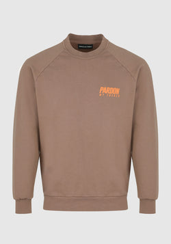 CREWNECK SWEATER PARDON MY FRENCH BROWN