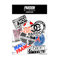 Pardon my French stickers pack