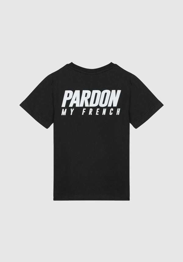 TSHIRT PARDON MY FRENCH NOIR KIDS