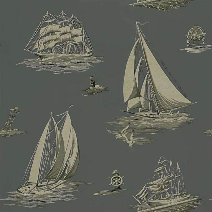 Down Easter Boats Fog behang Ralph Lauren Selected wallpapers by OOSTENDORP
